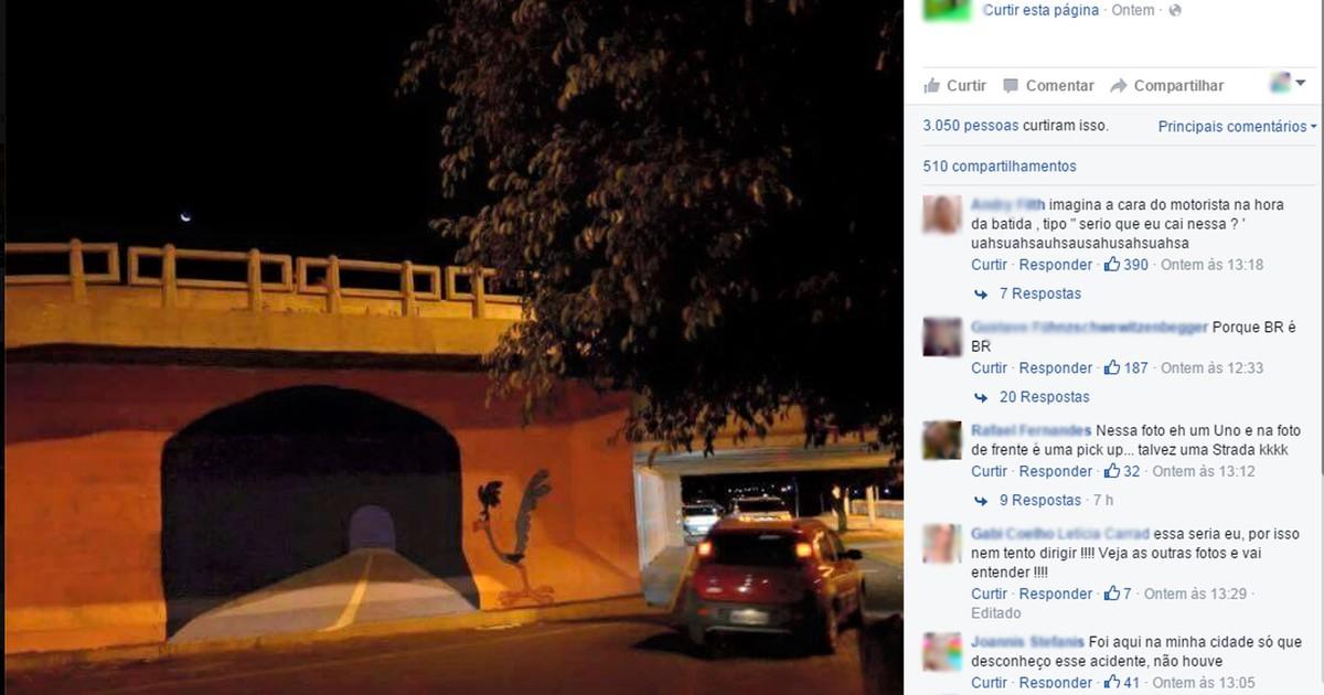G1 Para Evitar Acidente Prefeitura Apaga Desenho De Túnel Em 3d