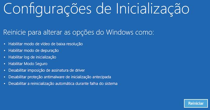 Modo de segurança altera configurações do Windows (Foto: Reprodução/Helito Bijora)