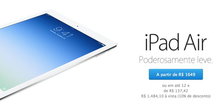 iPad está mais barato para estudantes e profissionais da educação (Foto: Reprodução/Edivaldo Brito)