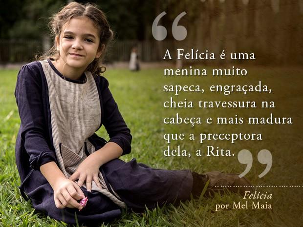 Card Felícia - Mel Maia (Foto: Fábio Rocha/Gshow)