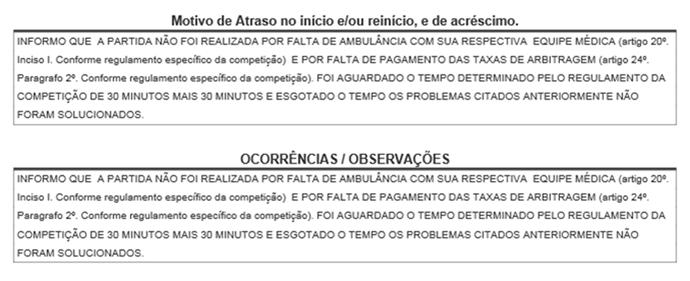 SÚMULA SERRANO X AFOGADOS (Foto: Divulgação / FPF-PE)