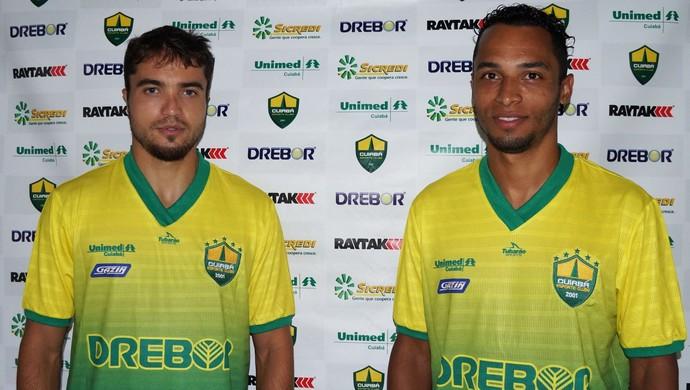 Marco Aurélio e Assis reforços do Cuiabá (Foto: Assessoria/Cuiabá Esporte Clube)