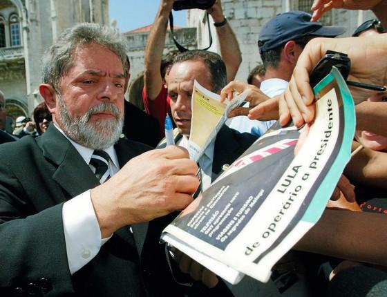 Lula no auge ,no primeiro  mandato.Ele união o país. (Foto: ANTONIO COTRIM/AFP)