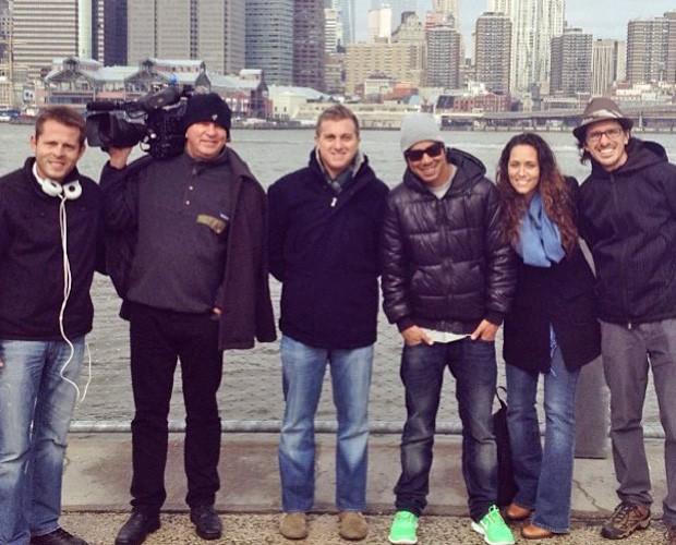 Equipe do Caldeirão em Nova York (Foto: Reprodução/Instagram)