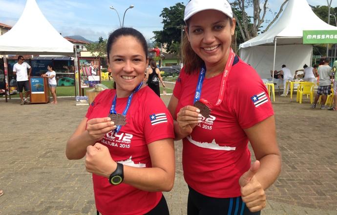 Flavia e Caroline k42 eu atleta (Foto: Divulgação)