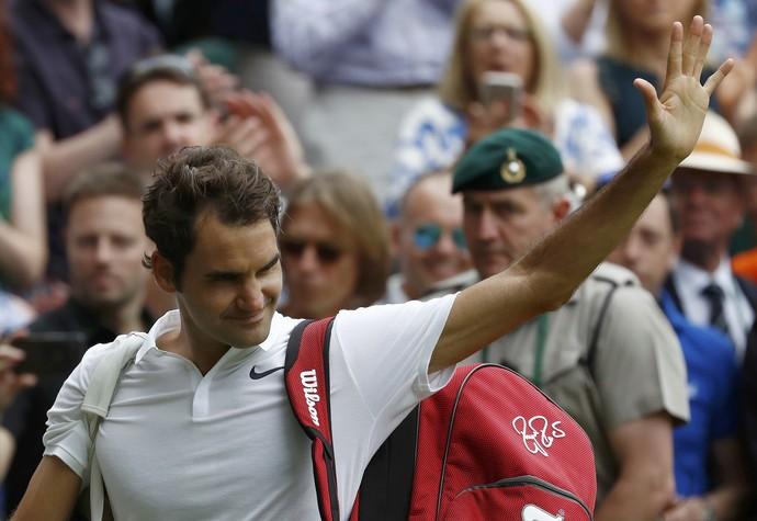 Roger Federer, Wimbledon, tênis (Foto: Reuters)