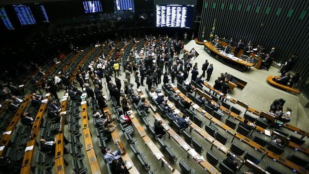 Sessão da Câmara dos Deputados para analisar e votar o projeto sobre a renegociação da dívida dos estados com o governo federal (Foto: Marcelo Camargo/Agência Brasil)