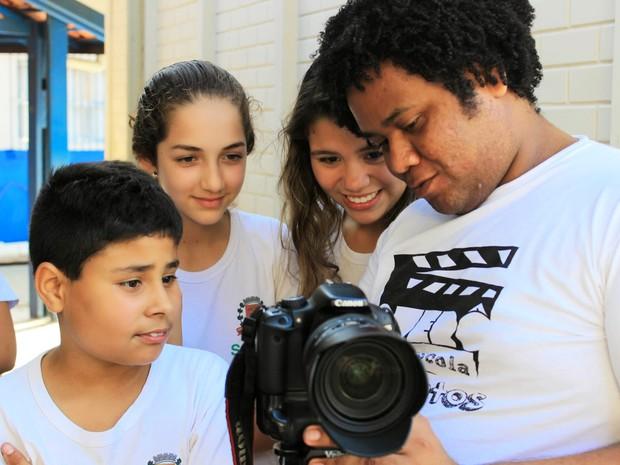 Alunos aprenderam os conceitos básicos do cinema (Foto: Divulgação / Juh Guedes)