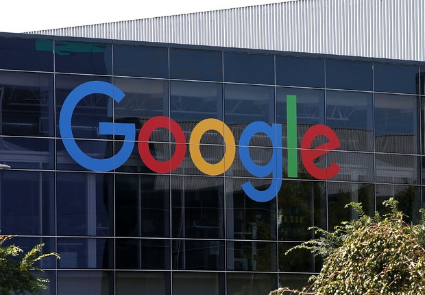 Fachada da sede do Google em Mountain View, na Califórnia (Foto: Justin Sullivan/Getty Images)