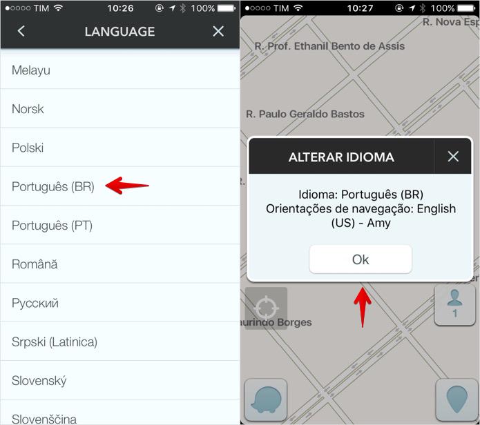 Colocando o Waze em português (Foto: Reprodução/Helito Bijora)