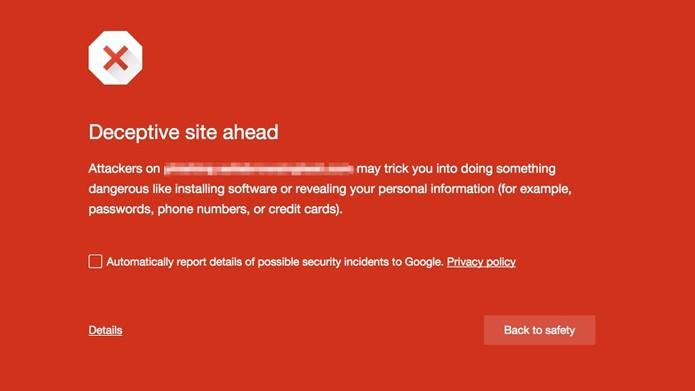 Safe Browing do Google vai informar tentativas de roubar dados de usuários (Foto: Reprodução/Google)
