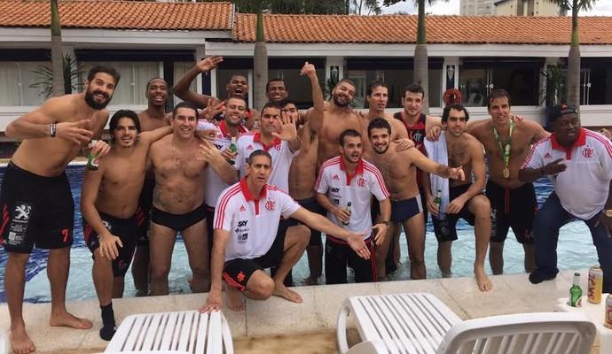 Comemoração Flamengo, NBB, Novo Basquete Brasil (Foto: Marcello Pires)