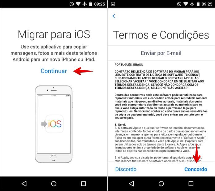 Aceite os termos de uso do aplicativo (Foto: Reprodução/Helito Bijora)