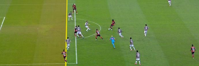Éverton Flamengo Fluminense impedido (Foto: Reprodução SporTV)