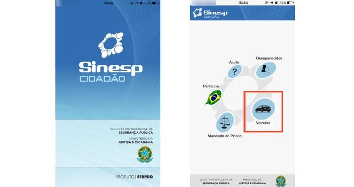 Abra o app e vá em veículos (Foto: Reprodução/Camila Peres)