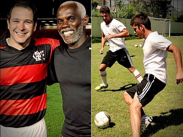 Atores fizeram aulas de futebol (Foto: Avenida Brasil / TV Globo)