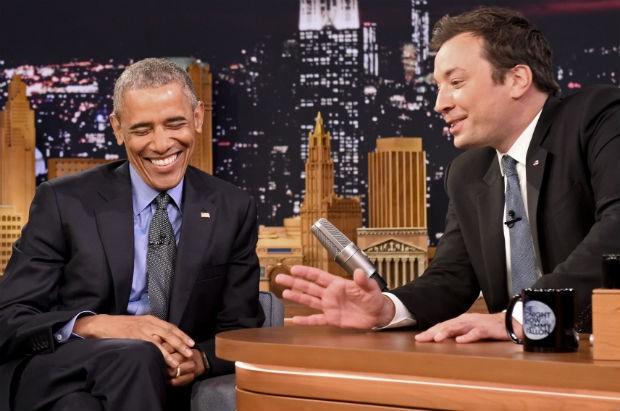 Barack Obama  convidado especial no 'Tonight Show with Jimmy Fallon' (Foto: Getty Images)