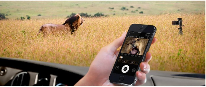 Ações da câmera são controladas pelo aplicativo no celular, sem fios (Foto: Divulgação/Kickstarter)