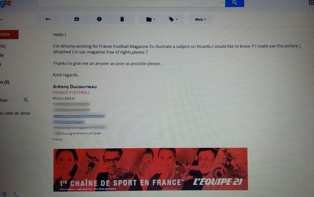 france football, email