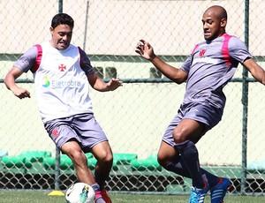 Eder Luis e Fellipe Bastos, Treino do Vasco (Foto: Marcelo Sadio / Vasco.com.br)