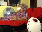 Idosa reclama que não consegue balão de oxigênio por plano de saúde