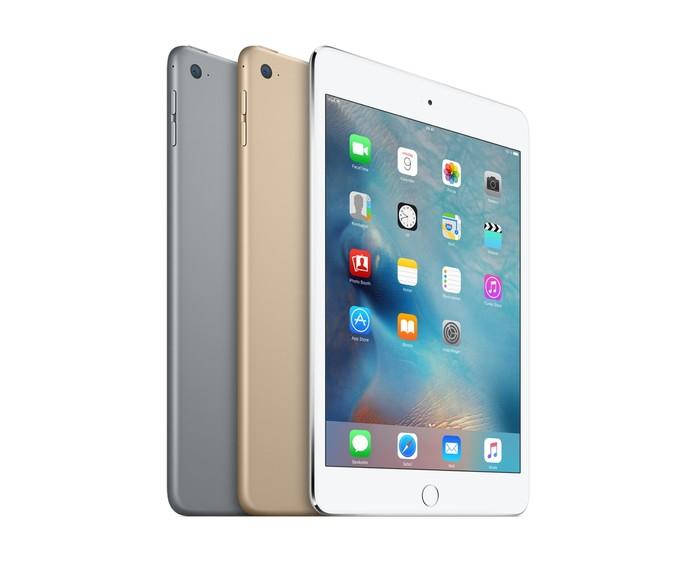 iPad Mini 4 é modelo básico para quem prioriza portabilidade (Foto: Divulgação/Apple)