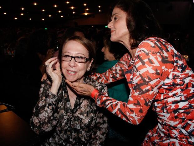 Fernanda Montenegro e Marieta Severo em show no Rio (Foto: Onofre Veras/ Brazil News)