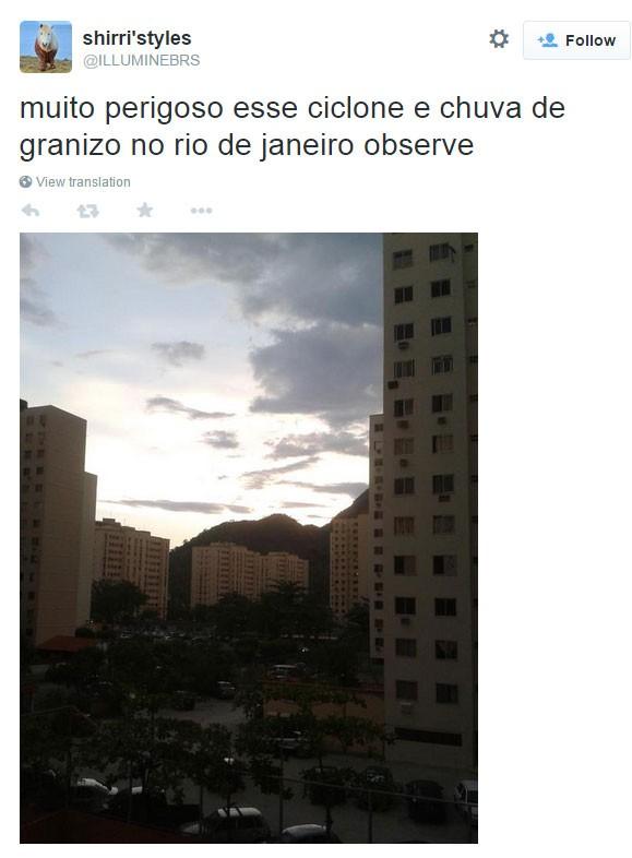 Chuva no Rio 8 (Foto: Reprodução/Twitter)