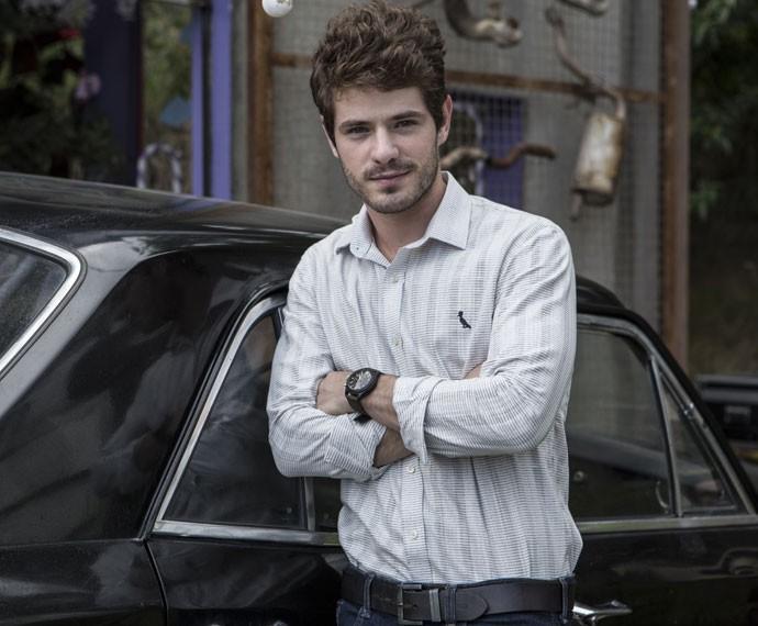 'Acho que amadureci uns dez anos', diz Maurício Destri, sobre viver seu primeiro protagonista (Foto: Inácio Moraes/Gshow)