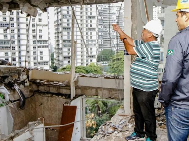 Um dia após explosão, veja imagens do apartamento que explodiu (Foto: Tarso Ghelli/ Prefeitura)