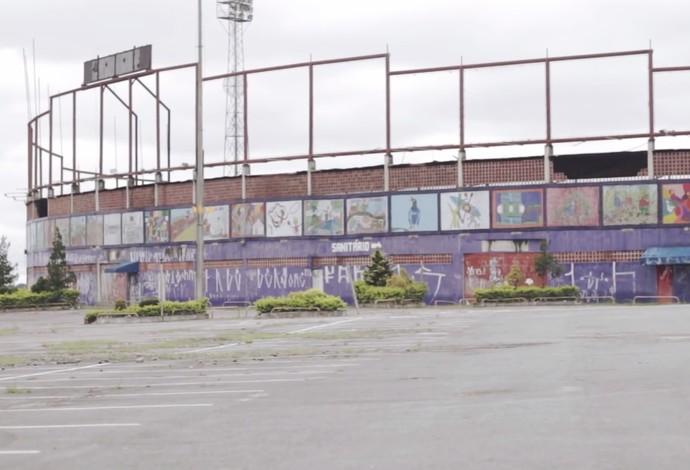 Complexo Poliesportivo do Pinheirão foi fechado em 2007 e leiloado em 2012 (Foto: Reprodução)