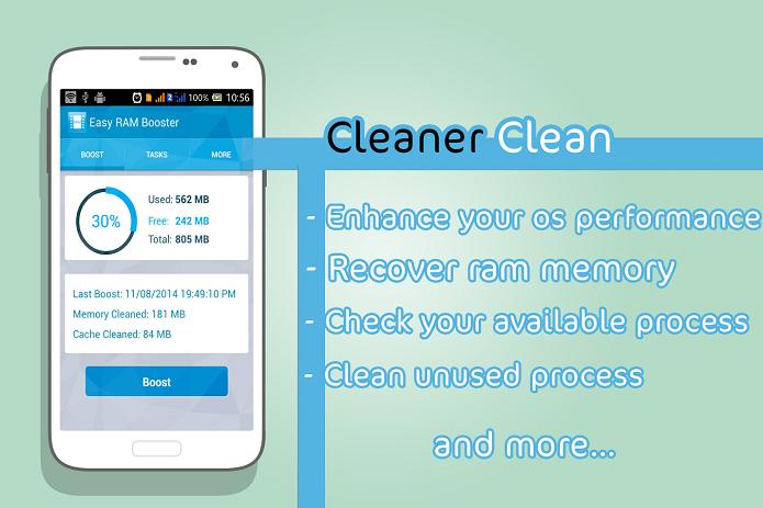 Cleaner & Speed Booster é um app para apagar memória RAM do smartphone Android (Foto: Divulgação/Android)