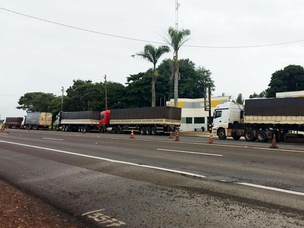 Operação foi realizada na Rodovia Raposo Tavares, em Presidente Epitácio (Foto: Lelio Ramos/TV Fronteira)