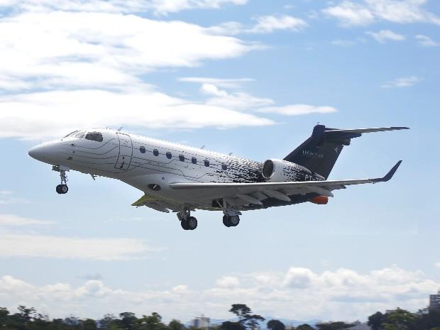 Legacy 500 fez o primeiro voo nesta terça-feira (27), em São José dos Campos. (Foto: Divulgação/Embraer)