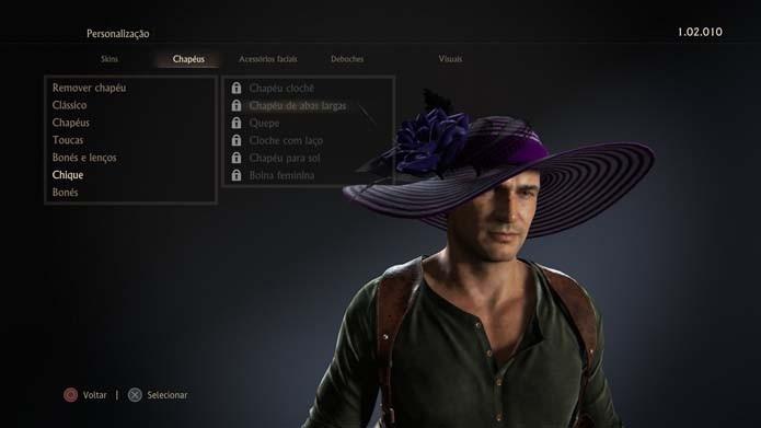 Adicione itens aos personagens de Uncharted 4 (Foto: Reprodução/Murilo Molina)