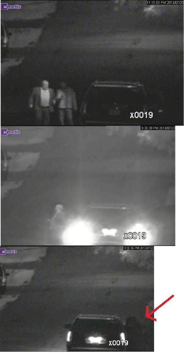 Prefeito de Toronto, Rob Ford, aparece em imagens estáticas em um carro no relatório de investigação da polícia (Foto: Polícia de Toronto/ Reuters)