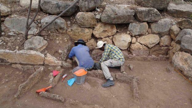 Escavações em Harlaa, na Etiópia (Foto: Universidade de Exeter)