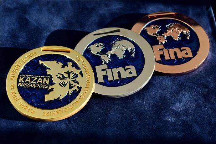 Medalhas Mundial de esportes aquáticos Kazan (Foto: Divulgação / Kazan2015)