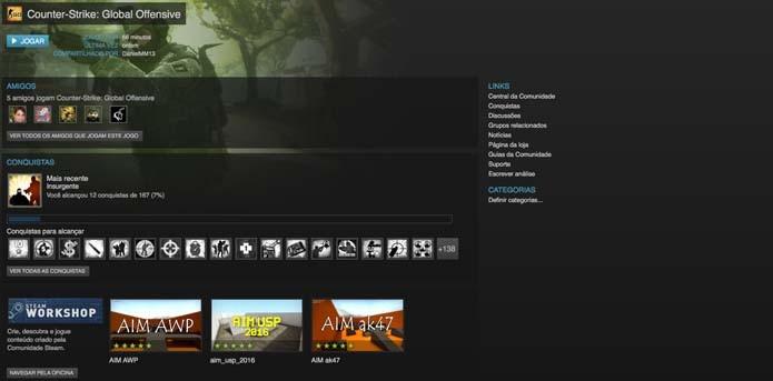 Abra o Steam Workshop pela página do CS:GO (Foto: Reprodução/Murilo Molina)