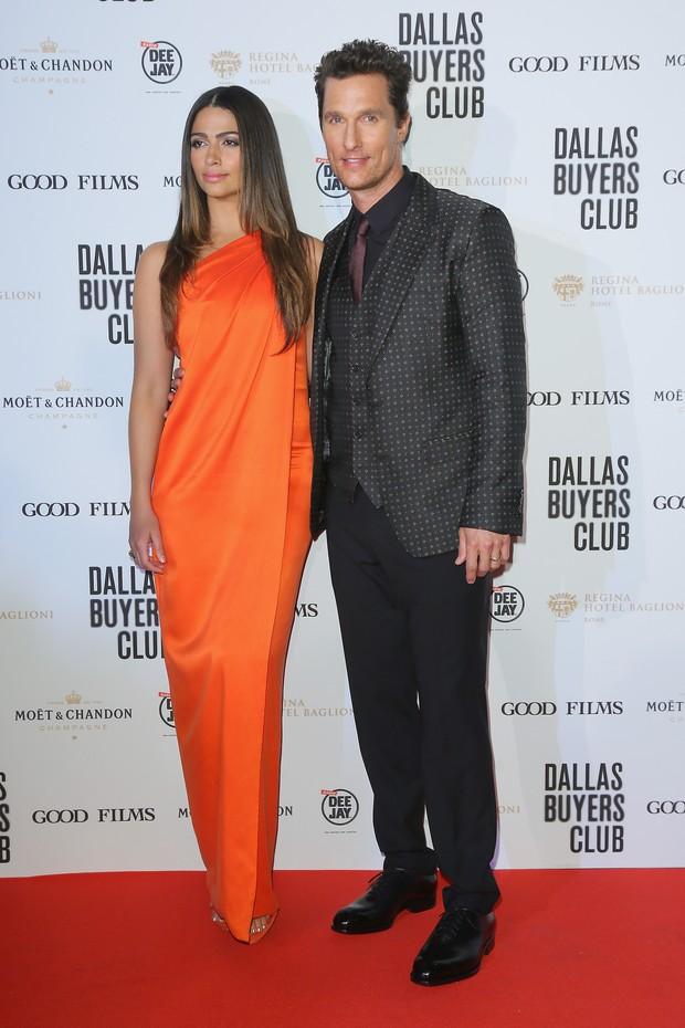 Camila Alves e Matthew McConaughey em première de filme em Roma, na Itália (Foto: Ernesto Ruscio/ Getty Images)