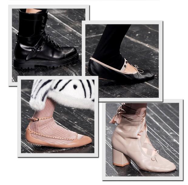 Os sapatos do desfile de inverno 2017 da Valentino (Foto: Imaxtree)