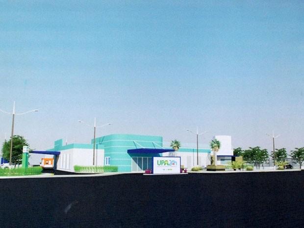 Maquete da UPA Potengi, prevista para funcionar em outubro (Foto: Marco Polo/Prefeitura do Natal)