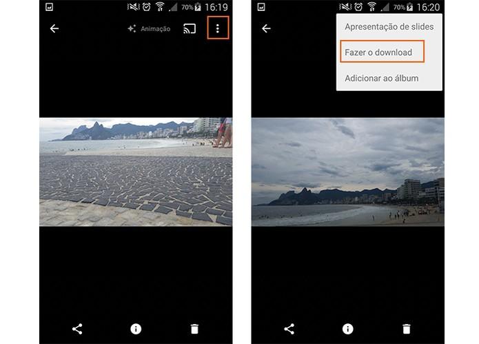 Se preferir faça o download do GIF para o celular (Foto: Reprodução/Barbara Mannara)
