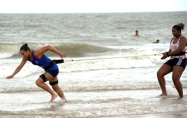 Maranhão Basquete, treino físico na praia (Foto: Biaman Prado/Divulgação/MB)