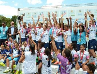 São José feminino campeão Libertadores 2014 (Foto: Jouvani Reis)