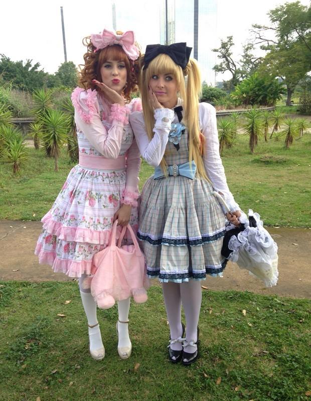 Angélica e Sophia ficam (quase) irreconhecíveis de Lolita (Foto: Nathália Gomes/Gshow)