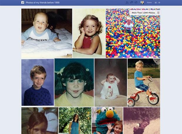 Busca social mostra fotos dos amigos antes de 1999 após pesquisa na ferramenta (Foto: Divulgação)
