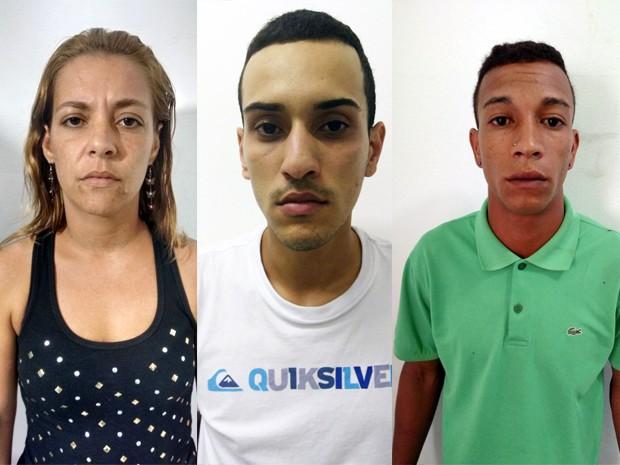 Trio foi preso suspeito de participação na morte da ex-cunhada do cantor Roberto Carlos (Foto: G1)