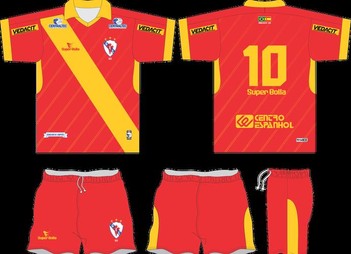 Uniforme do Galícia em homenagem à Espanha (Foto: Reprodução)