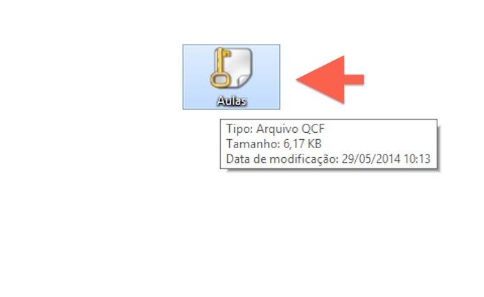 Encontrando o arquivo encriptado com o Quick Crypt (Foto: Reprodução/Marvin Costa)